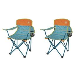 Coleman Kids Camping Glow-in-The-Dark Teal Quad Chairs