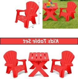 Camping Kids Table And Chair Set Children Furniture Toddler