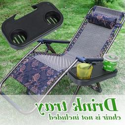 Camping Picnic Outdoor Beach Garden Chair Side Tray Cup Hold