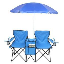 Camping Portable Outdoor 2-Seat Folding Chair with Removable