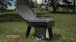Camping Potty Seat for Adults & Kids in Tent. Foldable Commo