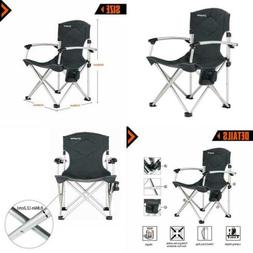 Camping Quad Chair Smooth Armrest 1200D Oxford Fabric Alumin