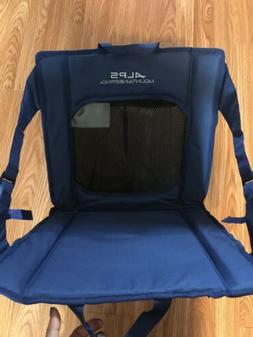 camping sporting event chair back rest blue