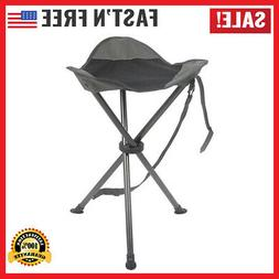 Camping Stool Folding Tripod Chair Tall Slacker Black Mesh S