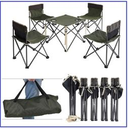 Camping Table And Chairs Portable Folding Set With Carry Bag