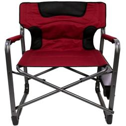 Chair Xxl Folding Padded Director Side Table Red Ozark Trail