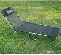 Chaise Lounge Chair Patio Lounger Outdoor Pool Side Sun Loun