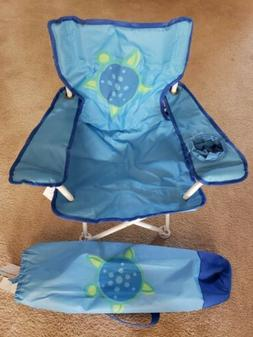 CHILDREN'S /JUNIOR FOLDING CAMPING CHAIR WITH ARMS AND DRINK