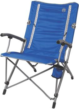 Coleman Camping Chair Padded Arms Steel Frame Interlock Doub