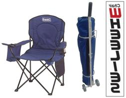 Coleman Oversized Quad Chair and Chair Wheelie Combo - Blue
