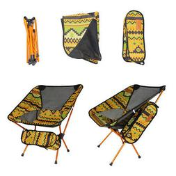 Colorful Print Outdoor Camping Stool Seat Folding Chair Beac