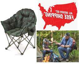 Guide Gear Comfortable Oversized Club Camp Chair GREEN PLAID
