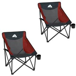 Compact Mesh Chairs Set of 2 Folding Camping Furniture Outdo
