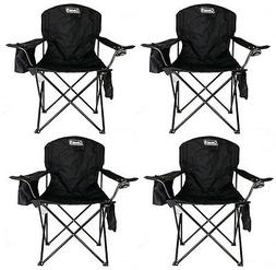 4-Pack Coleman Cooler Quad Chairs With Built-In Cooler, Blac