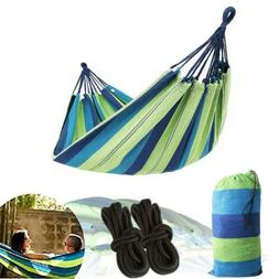 Double Hammock Fabric Canvas Air Chair Hanging Swing Bed Gar
