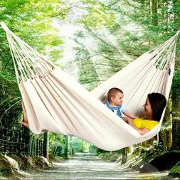 Double Hammock Fabric Canvas Hanging Bed Swing Chair for Out