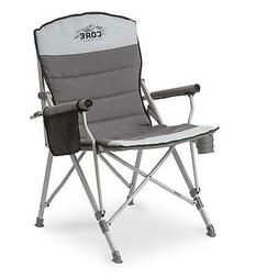 CORE Equipment Folding Padded Hard Arm Chair With Carry Bag,