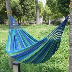 Fabric Camping Double Hammock Swing Chair Hanging Bed for Ou
