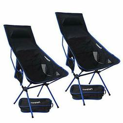 FBSPORT Lightweight Folding Camping Backpack Chair 2 Pack Co