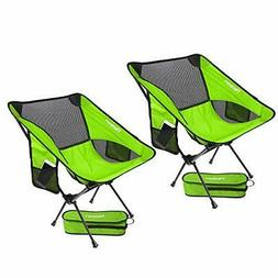 2 Pack Portable Camping Chairs Lightweight Folding Backpacki