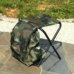 Fishing Chair Camouflage Backpack Foldable Oxford Cloth Meta
