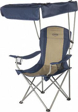 Foldable Camping Chair with Shade Canopy Lightweight and Com