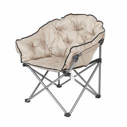 Mac Sports Foldable Padded Outdoor Club Camping Chair with C