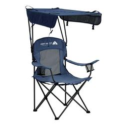 Foldable Shaded Canopy Camping Chair Bench With Cup Holders