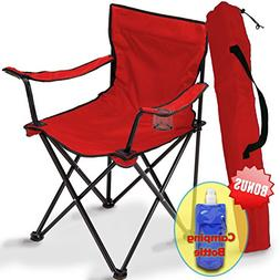 Folding Camping Chair, Portable Carry Bag for Storage and Tr