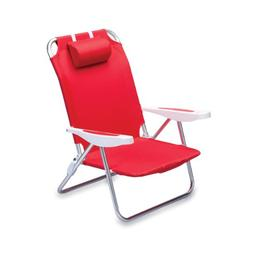 Picnic Time 'Monaco' Folding Beach Chair, Red