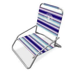 Folding Beach Chair With Carry Strap Portable Seat For Campi