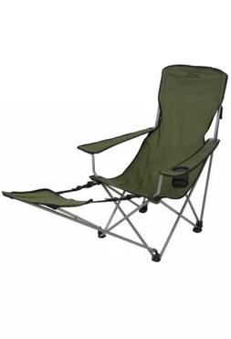 folding camp chair with footrest adults picnic beach outdoor
