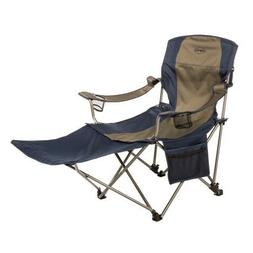 Folding Camp Chair with Removable Foot Rest Stool Beach Chai