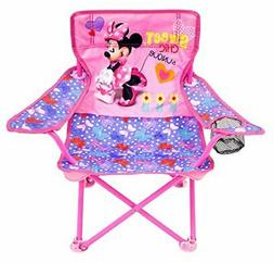 Folding Camping Chair for Kids Minnie Mouse Toddler Baby Out