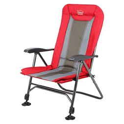 Timber Ridge Folding Camping Chair Heavy Duty with Adjustabl