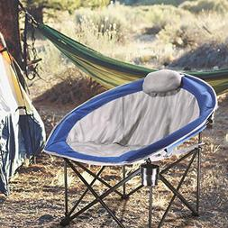 LCH Folding Camping Chair - Leisure Oversized Padded Mesh Se