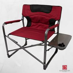 folding camping chair xxl padded w side