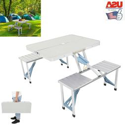 Folding Camping Picnic Table +4Chair Seat Portable Set One-p