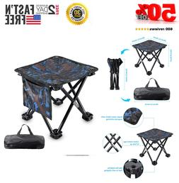 Folding Camping Stool Portable Outdoor Mini Chair Carry Bag