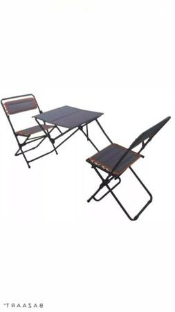 Folding Camping Table and Chairs Beach Patio Outdoor Table S