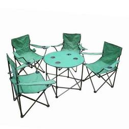 Folding Camping Table & Chairs Set with Carry Bag