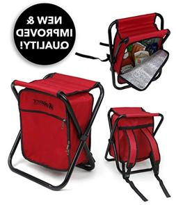 Folding Cooler and Stool Backpack - Multifunction Red Collap