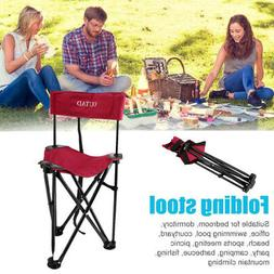 Folding High Back Camp Chair Holds Up to 120 kg Picnic Campi