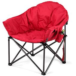Giantex Folding Moon Saucer Chair Portable Camping Chair, Ov