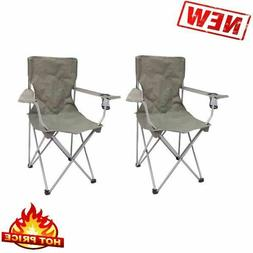 Folding Outdoor Portable Chairs 2 Pack Seat Camping Fishing