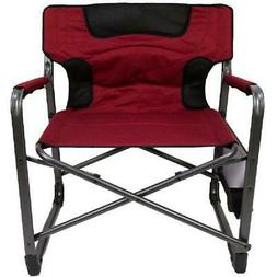 Folding Padded Director Chair XXL W/ Side Table, 600 Lb Capa