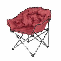 Mac Sports Folding Padded Outdoor Club Camping Chair with Ca