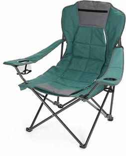 Folding Portable 2-in-1 Camp Chair Heavy Duty Oversized w/ A