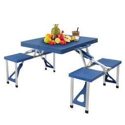 Folding Portable 4 Chair Table Set Kitchen Dining Garden Out