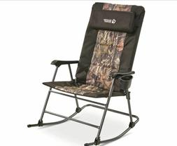 Folding Rocking Chair, 500lbs Camping Rocker Porch Outdoor S
